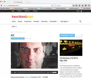 """Alf de faq-mac.com presenta """"Bailar Sevillanas"""" en la radio: Territori Mac"""