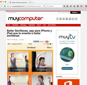 """Artículo sobre la app """"Bailar Sevillanas"""" en My Computer"""