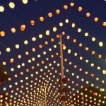 La iluminación de la feria, farolillos de colores