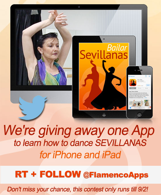 We're giving away one App to learn how to dance Sevillanas